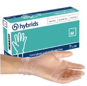 hybrydowe jednorazowe rękawiczki ochronne